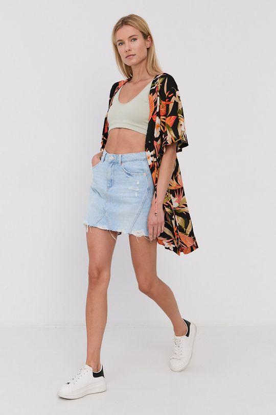Tally Weijl - Spódnica jeansowa bawełniana jasny niebieski