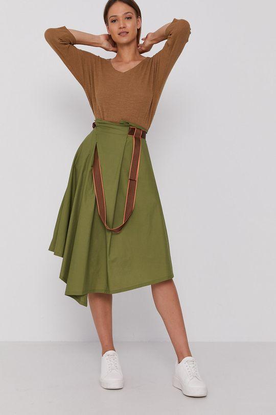 United Colors of Benetton - Spódnica jasny oliwkowy