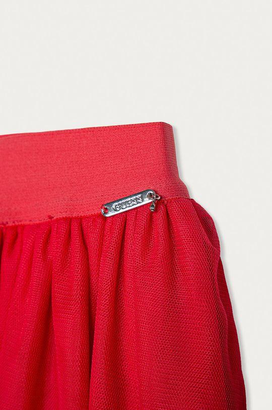 Guess - Spódnica dziecięca 116-175 cm ostry różowy