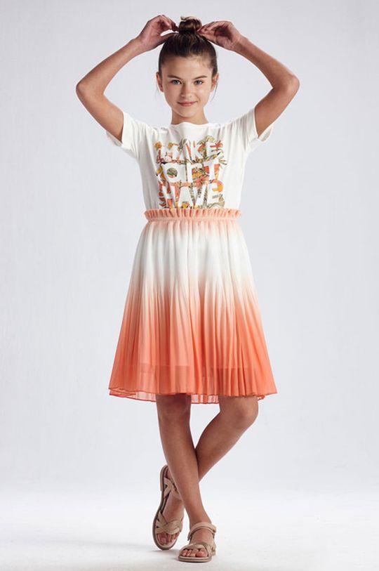 brzoskwiniowy Mayoral - Spódnica dziecięca Dziewczęcy