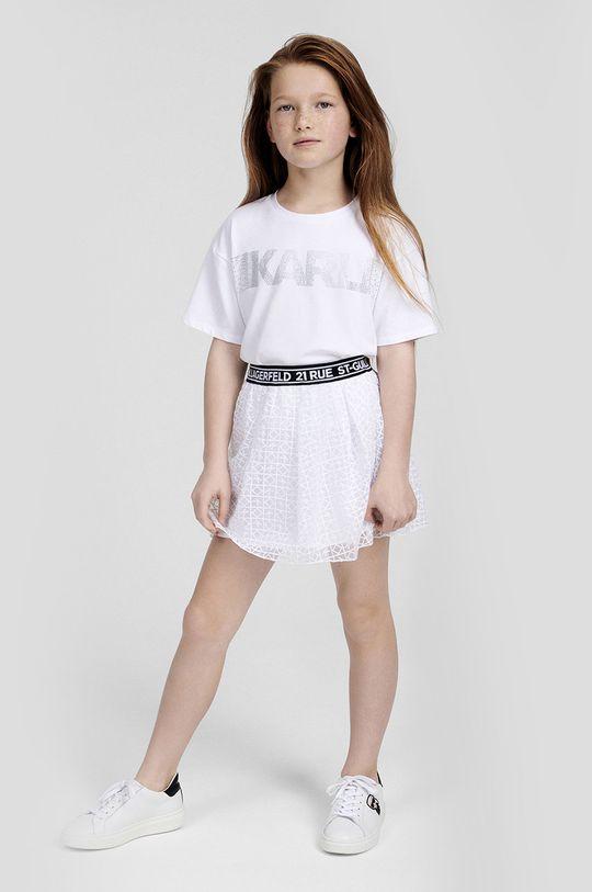 biały Karl Lagerfeld - Spódnica dziecięca Dziewczęcy