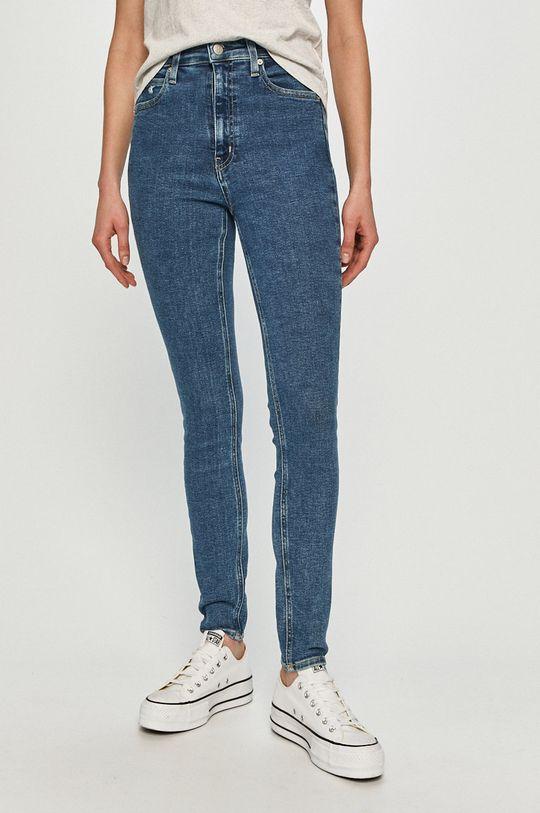 niebieski Calvin Klein Jeans - Jeansy 010 Damski
