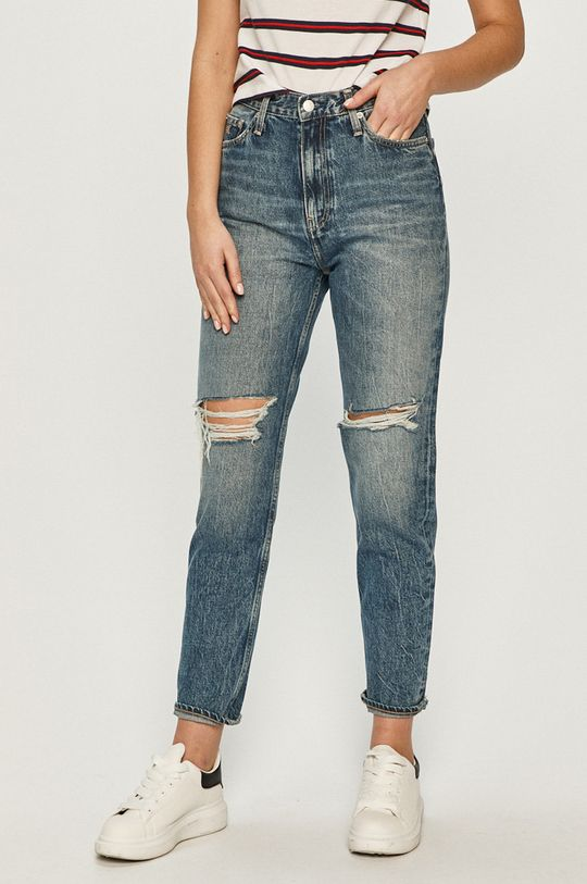 niebieski Calvin Klein Jeans - Jeansy Mom Jean Damski