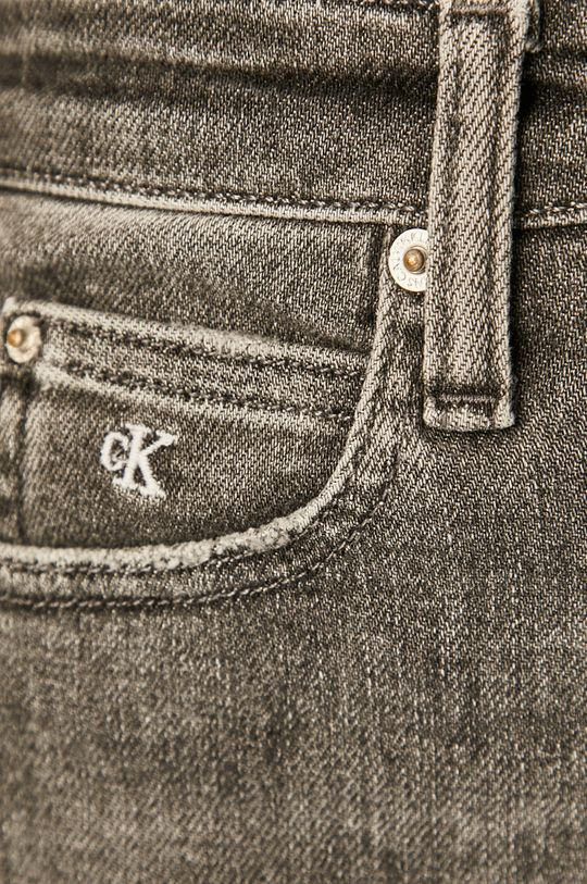 šedá Calvin Klein Jeans - Džíny