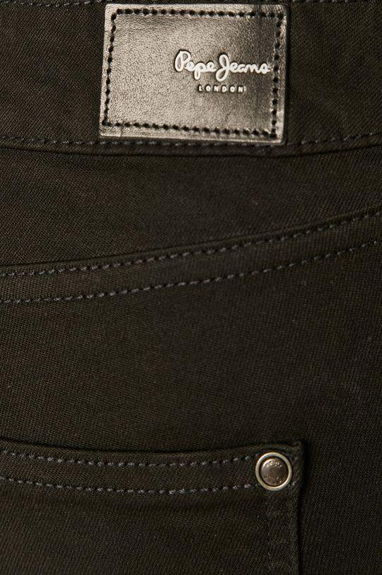 čierna Pepe Jeans - Nohavice Pixie