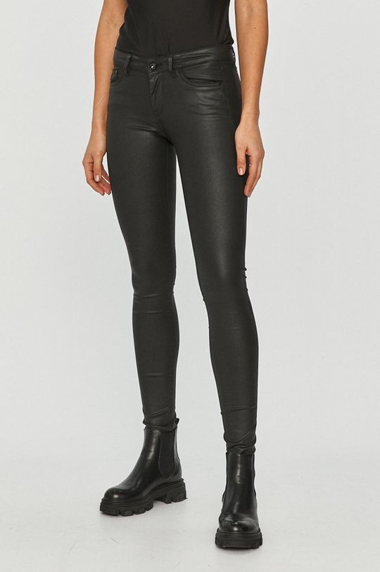 čierna Pepe Jeans - Nohavice Pixie Dámsky