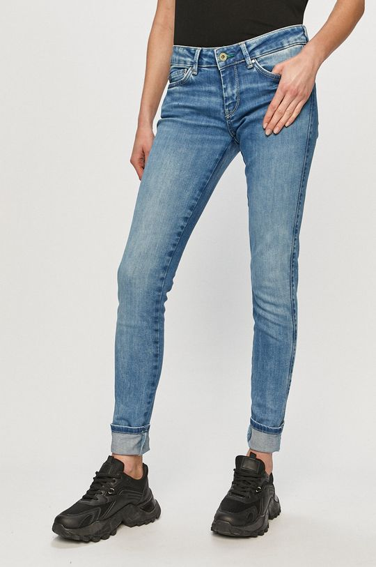 niebieski Pepe Jeans - Jeansy Pixie Damski