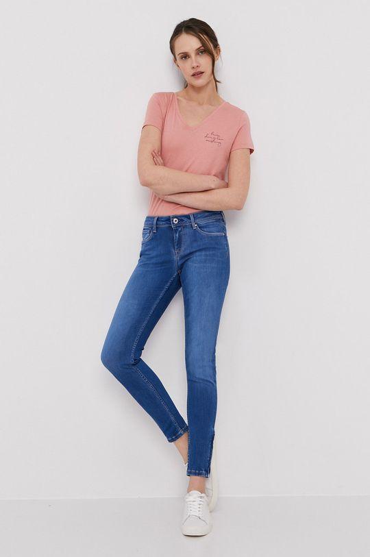 Pepe Jeans - Jeansy Lola niebieski