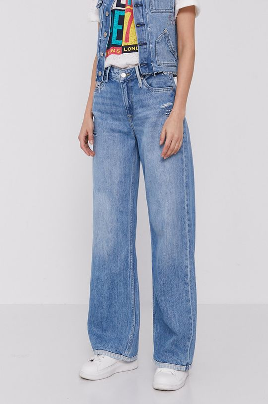 niebieski Pepe Jeans - Jeansy Jive Repair Damski
