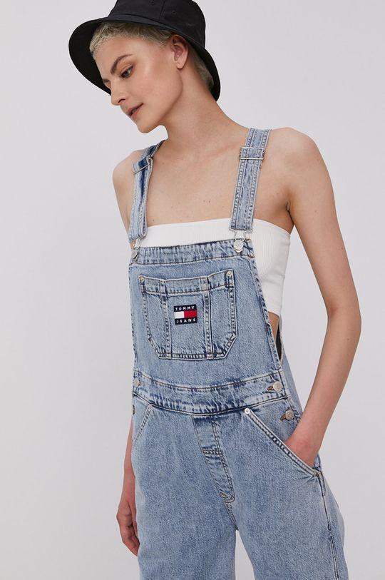 jasny niebieski Tommy Jeans - Ogrodniczki Dungaree Damski