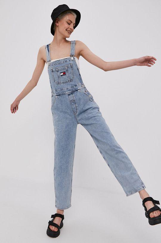Tommy Jeans - Ogrodniczki Dungaree jasny niebieski