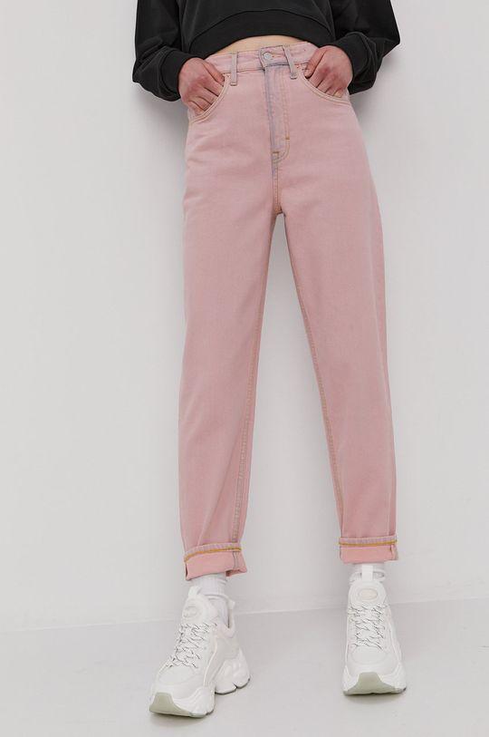 różowy Tommy Jeans - Jeansy Mom Damski