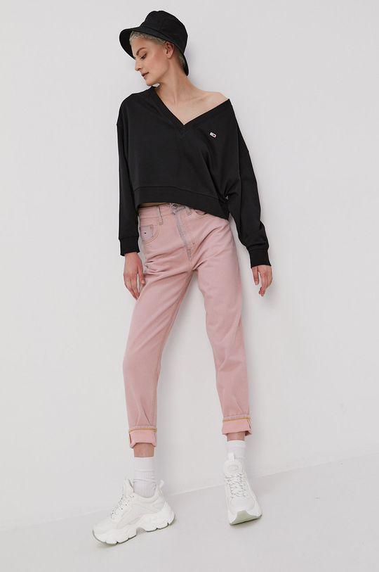 Tommy Jeans - Jeansy Mom różowy