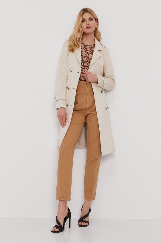 Pinko - Kalhoty zlatohnědá