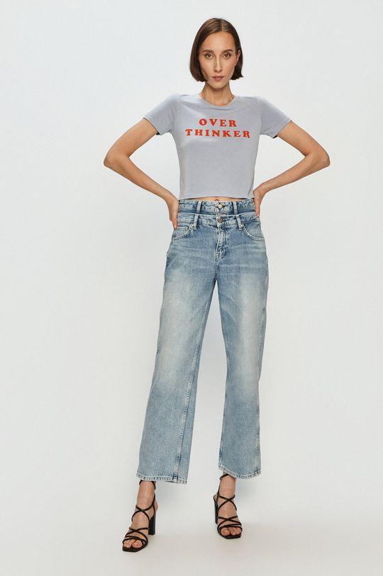 Pepe Jeans - Jeansy Blaze x Dua Lipa niebieski