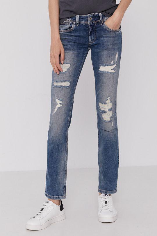 modrá Pepe Jeans - Džíny Saturn Dámský