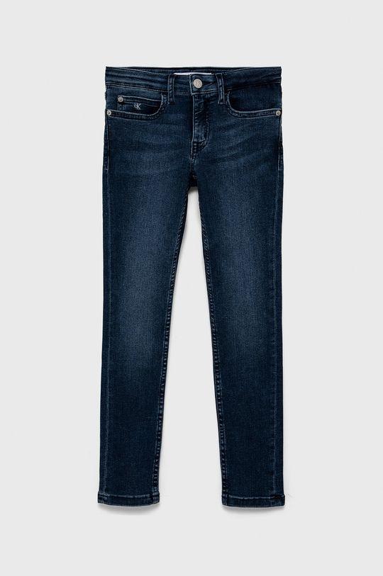 námořnická modř Calvin Klein Jeans - Dětské rifle 140-176 cm Dívčí