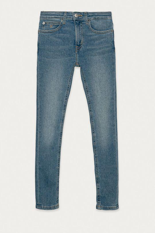 modrá Calvin Klein Jeans - Dětské rifle 140-176 cm Dívčí