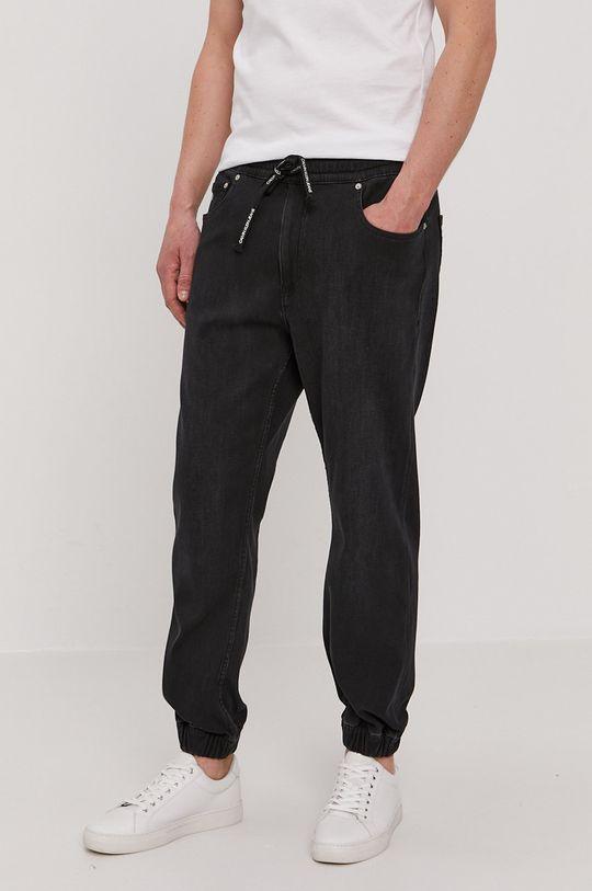 czarny Calvin Klein Jeans - Jeansy Track Jean Męski