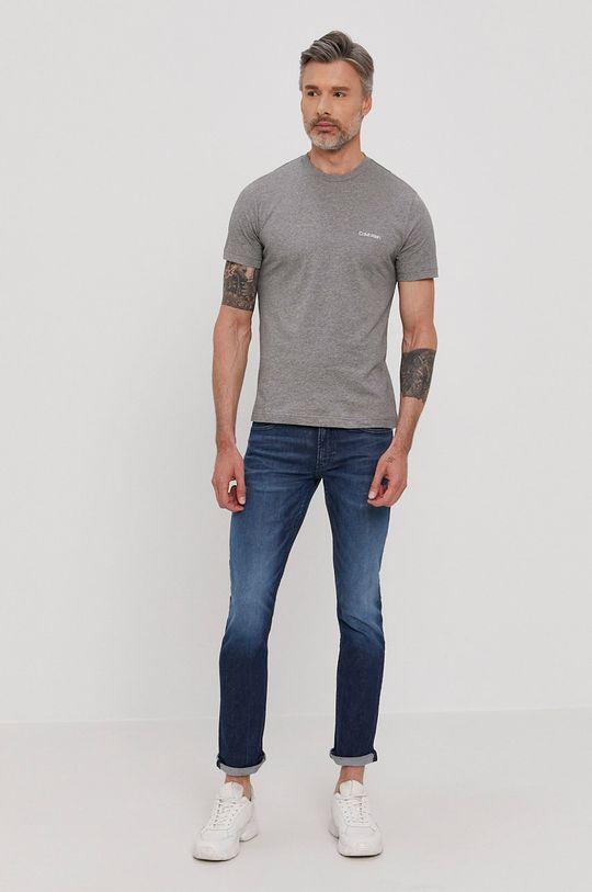 Calvin Klein Jeans - Jeansy Slim granatowy