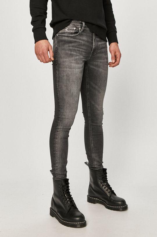 sivá Calvin Klein Jeans - Rifle Pánsky