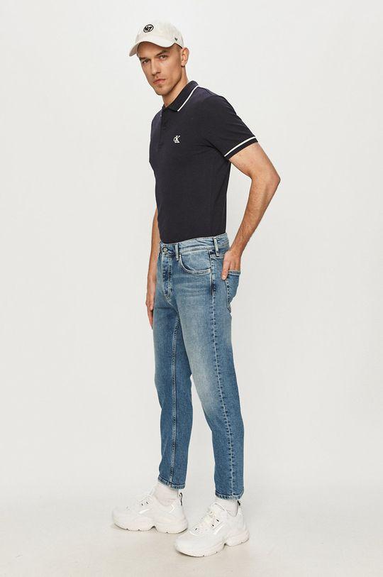 Calvin Klein Jeans - Jeansy Dad niebieski