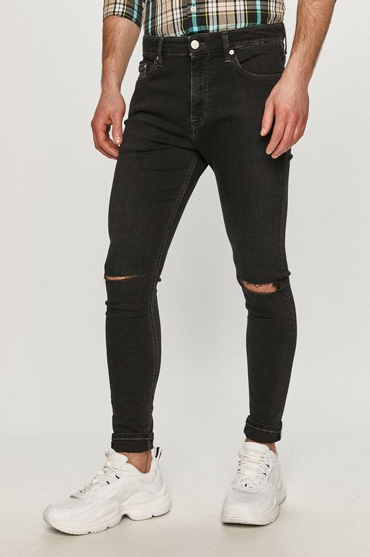 černá Tommy Jeans - Džíny Finley Pánský