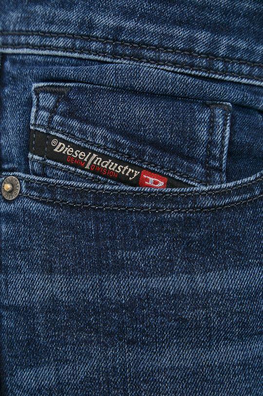 stalowy niebieski Diesel - Jeansy Sleenker