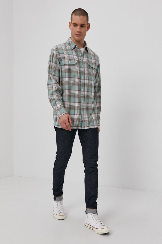 Levi's - Jeansy Skinny Tapered Fit granatowy