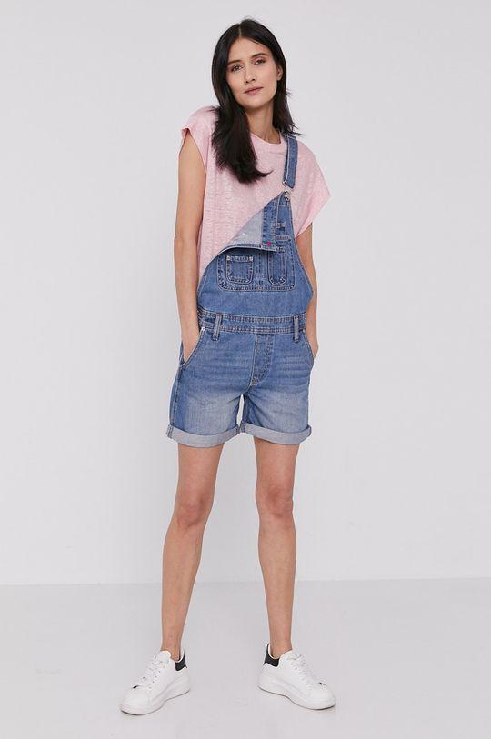 Pepe Jeans - Ogrodniczki Abby Fabby niebieski