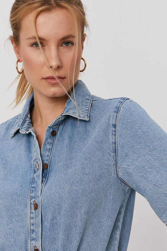 niebieski Billabong - Kombinezon jeansowy