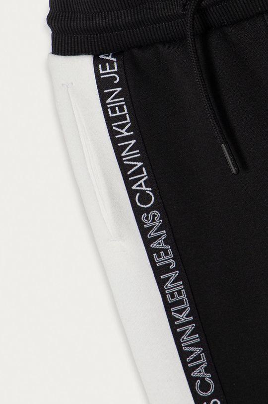 Calvin Klein Jeans - Detské nohavice 104-176 cm čierna