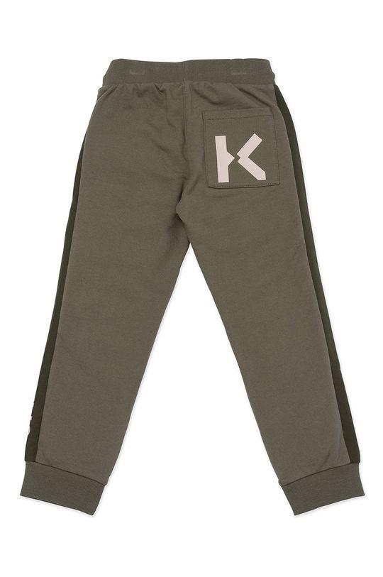 KENZO KIDS - Spodnie dziecięce brudny zielony