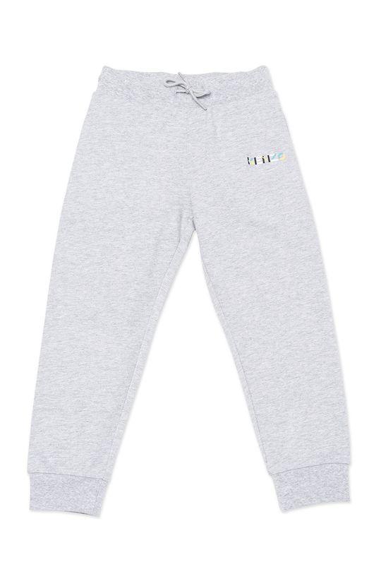 světle šedá KENZO KIDS - Dětské kalhoty Chlapecký