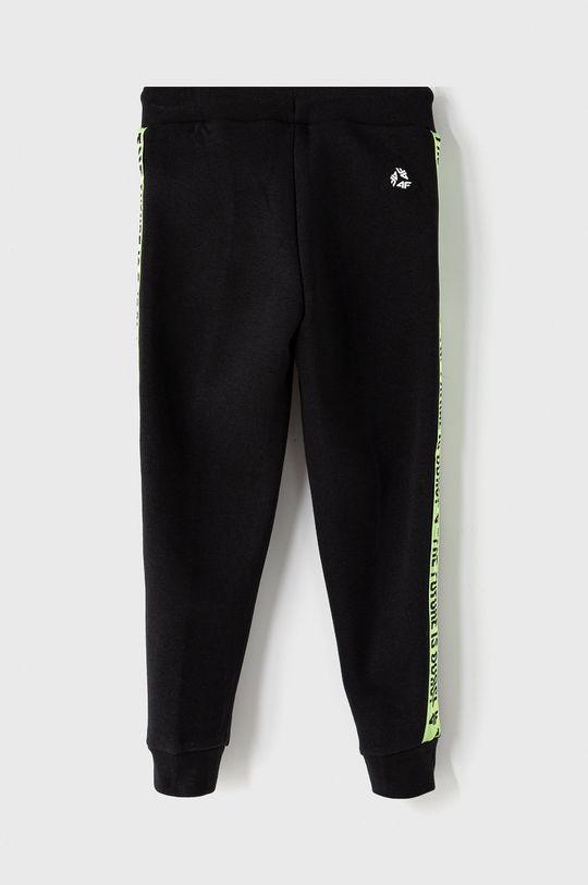 4F - Dětské kalhoty 122-164 cm černá