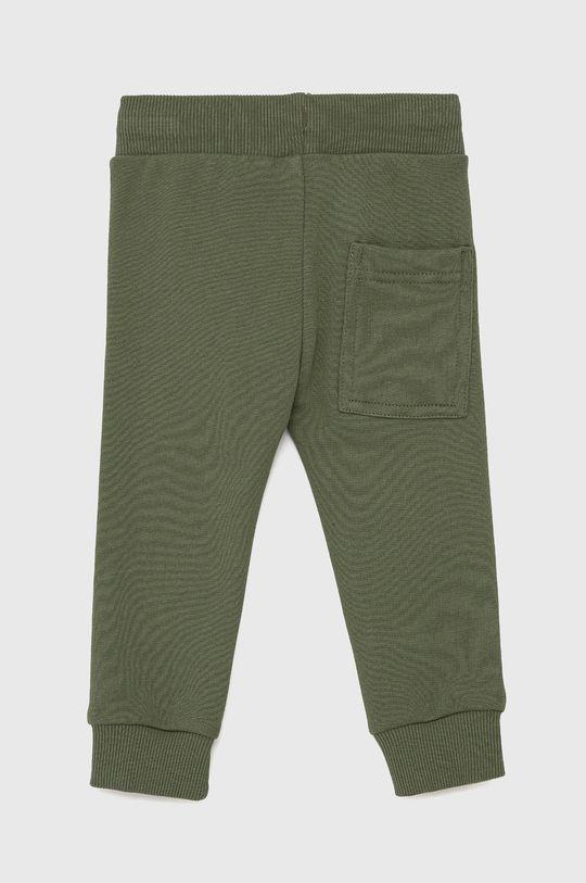 United Colors of Benetton - Dětské kalhoty tlumená zelená