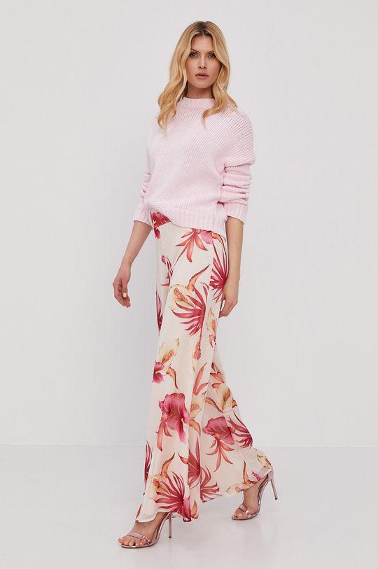 różowy Guess - Spodnie Damski