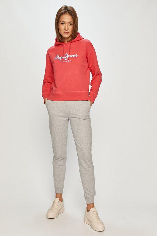 Guess - Spodnie jasny szary