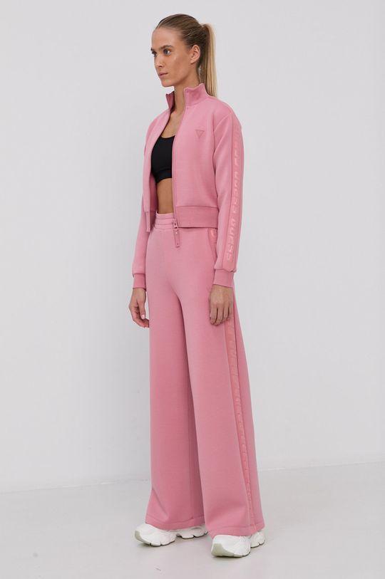Guess - Spodnie różowy