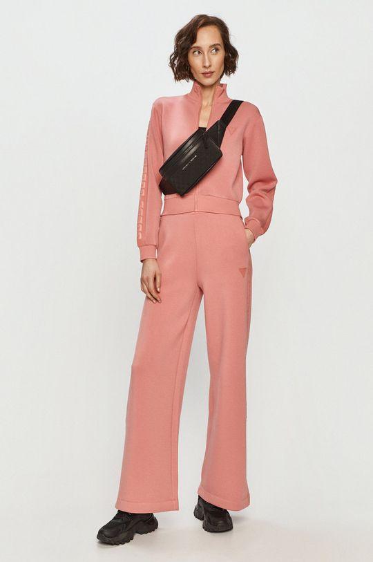 Guess - Spodnie fiołkowo różowy