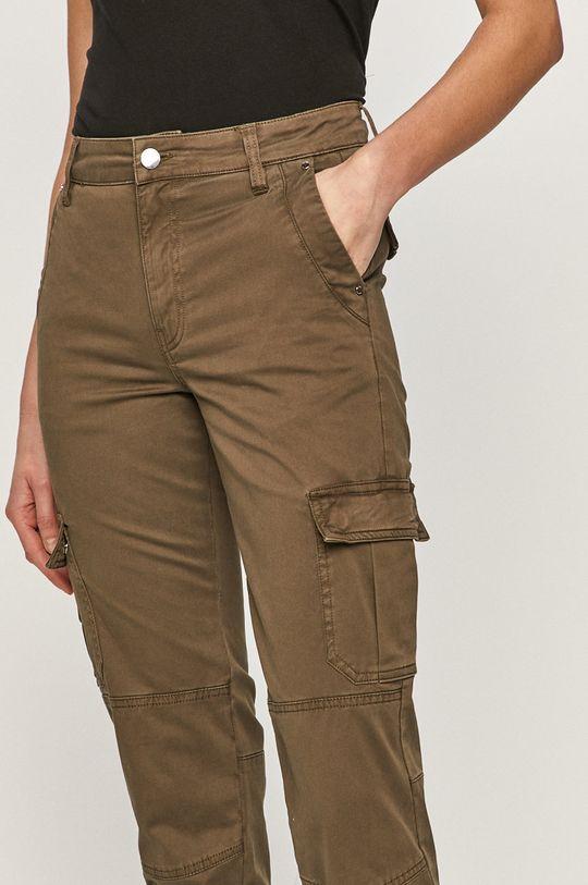 tlumená zelená Guess - Kalhoty
