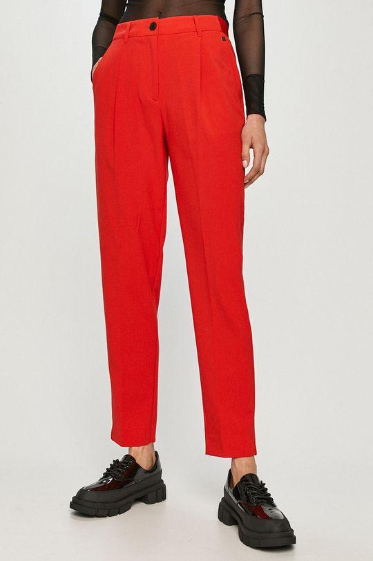 czerwony Calvin Klein - Spodnie Damski