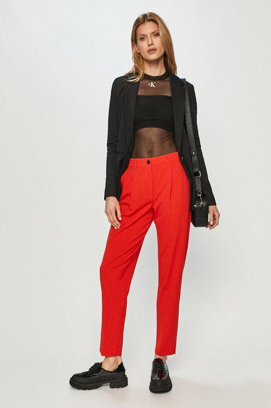 Calvin Klein - Spodnie czerwony