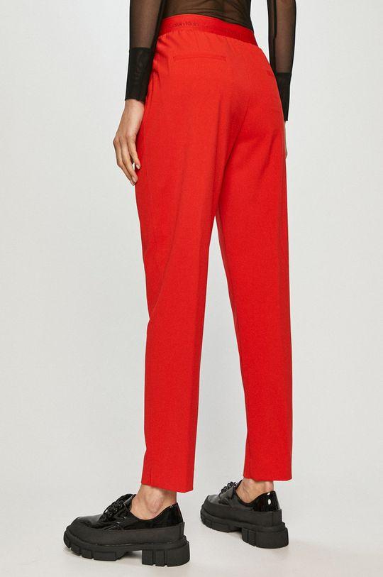 Calvin Klein - Spodnie 4 % Elastan, 63 % Poliester, 33 % Wiskoza