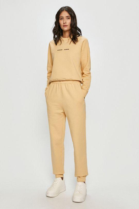 Samsoe Samsoe - Spodnie jasny żółty