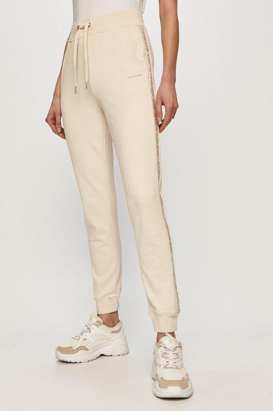 piaskowy Calvin Klein Jeans - Spodnie Damski