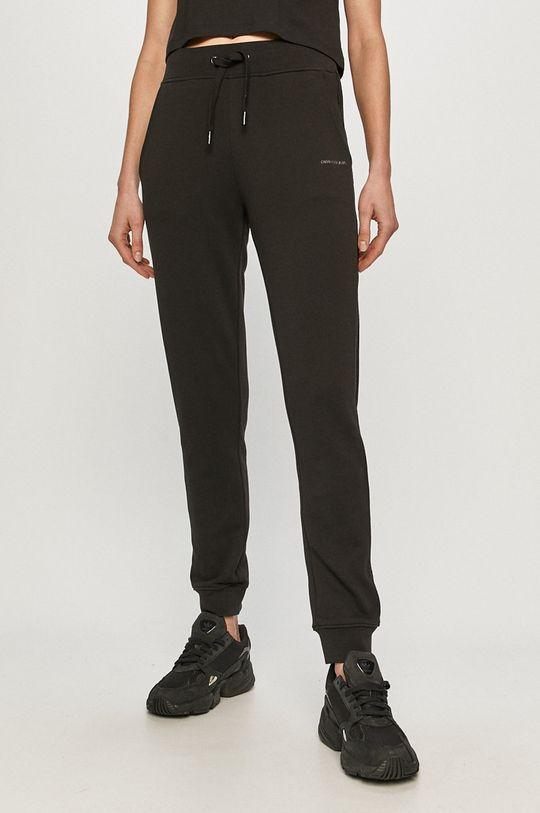čierna Calvin Klein Jeans - Nohavice Dámsky