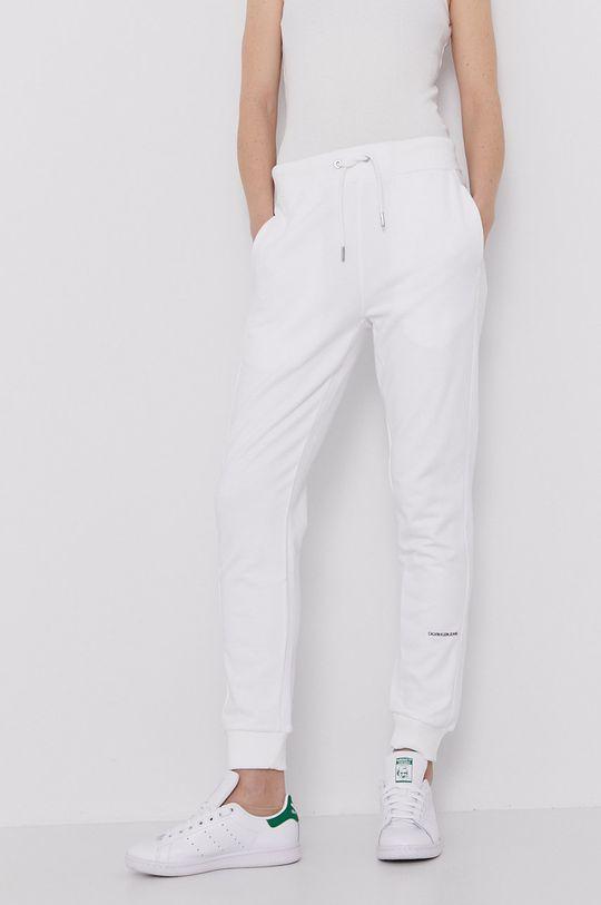 biały Calvin Klein Jeans - Spodnie Damski