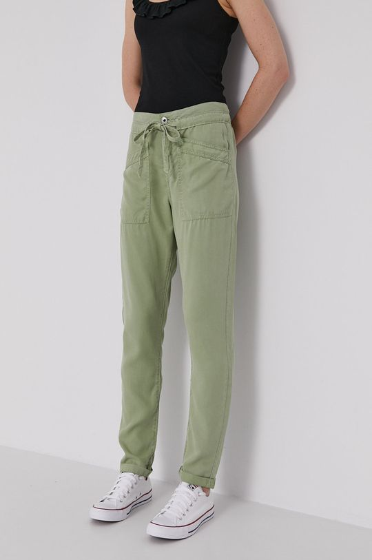 brudny zielony Pepe Jeans - Spodnie Dash Damski