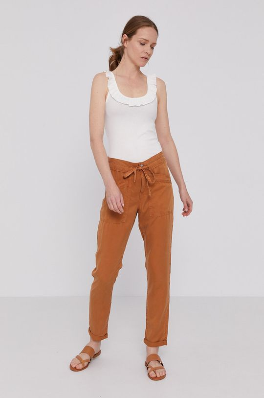 Pepe Jeans - Spodnie Dash złoty brąz